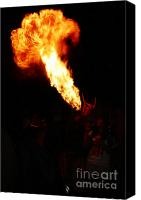 Pyrotechnics Canvas Prints - Fire flower Canvas Print by Agusti Pardo Rossello