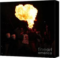 Pyrotechnics Canvas Prints - Fire fungus Canvas Print by Agusti Pardo Rossello