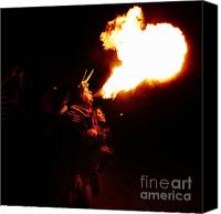 Pyrotechnics Canvas Prints - Fire girl Canvas Print by Agusti Pardo Rossello