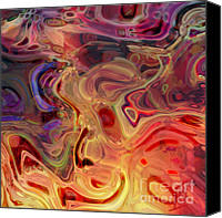 Rosy Hall Digital Art Canvas Prints - Fire in the Hold Canvas Print by Rosy Hall