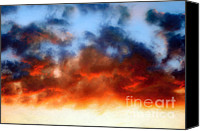 Stormy Mixed Media Canvas Prints - Fire In The Sky Canvas Print by Andee Photography
