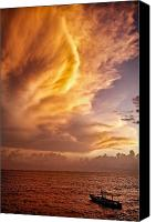 Postcard Photo Canvas Prints - Fire in the Sky Canvas Print by David Bowman