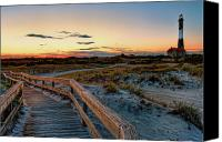 Light House Canvas Prints - Fire Island Lighthouse at Robert Moses State Park Canvas Print by Jim Dohms