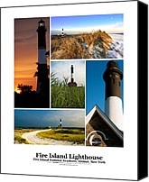 Long Island Canvas Prints - Fire Island Lighthouse Poster Canvas Print by Vicki Jauron