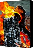 Clemente Digital Art Canvas Prints - Fire Magic Canvas Print by Mariola Bitner
