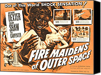 1950s Poster Art Canvas Prints - Fire Maidens Of Outer Space, Lower Left Canvas Print by Everett