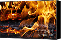 Incandescent Canvas Prints - Fire Canvas Print by Michal Boubin