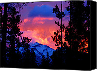 National Photo Special Promotions - Fire Sky Mountain Canvas Print by JP  McKim