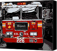 The City That Never Sleeps Canvas Prints - Fire Truck Color 6 Canvas Print by Scott Kelley