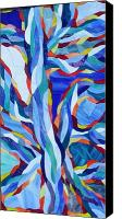 Mosaic Glass Art Canvas Prints - Fire Water Canvas Print by Charles McDonell