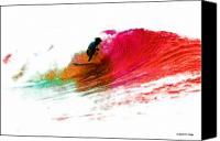 Surfing Canvas Prints - Fire Water Canvas Print by David Coyle