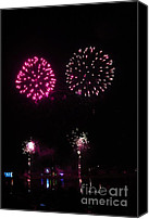 4th July Canvas Prints - Fire works Canvas Print by Yumi Johnson