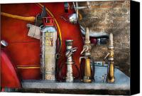 Away Canvas Prints - Fireman - An Assortment of Nozzles Canvas Print by Mike Savad