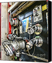 Fire Engine Canvas Prints - Fireman - Control Panel Canvas Print by Paul Ward