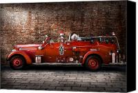 Rescue Photo Canvas Prints - Fireman - FGP Engine No2 Canvas Print by Mike Savad