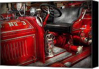 Fire Engine Canvas Prints - Fireman - Fire Engine No 3 Canvas Print by Mike Savad