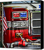 Truck Canvas Prints - Fireman - Fire Engine Canvas Print by Paul Ward