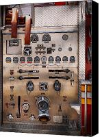 Fire Engine Canvas Prints - Fireman - For guys only  Canvas Print by Mike Savad