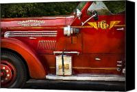 Fire Engine Canvas Prints - Fireman - Garwood Fire Dept Canvas Print by Mike Savad
