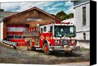 Rescue Photo Canvas Prints - Fireman - Union Fire Company 1  Canvas Print by Mike Savad