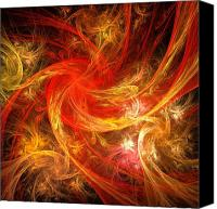 Black Framed Prints Digital Art Canvas Prints - Firestorm Canvas Print by Oni H