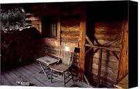 Cabin Canvas Prints - Firewood And A Chair On The Porch Canvas Print by Joel Sartore