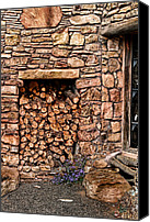 Fire Wood Canvas Prints - Firewood Canvas Print by Tom Prendergast