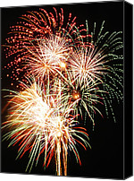 4th July Canvas Prints - Fireworks 1569 Canvas Print by Michael Peychich