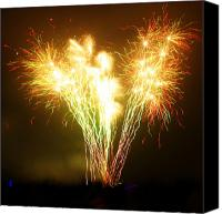 Fuego Canvas Prints - Fireworks 2 Canvas Print by Oliver Johnston