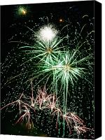 4th July Canvas Prints - Fireworks 4 Canvas Print by Michael Peychich