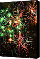 Works Canvas Prints - Fireworks 4th of July Canvas Print by Garry Gay