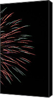 Independence Day Canvas Prints - Fireworks Abstract 1 Canvas Print by Marilyn Hunt