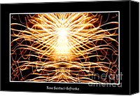 Father Christmas Canvas Prints - Fireworks Angel Good triumphs over evil Canvas Print by Rose Santuci-Sofranko