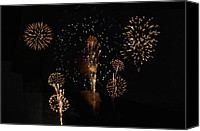 Fireworks Digital Art Canvas Prints - Fireworks Canvas Print by Bill Cannon