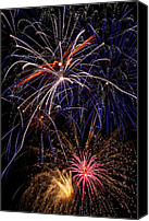 Fireworks Photo Canvas Prints - Fireworks Celebration  Canvas Print by Garry Gay
