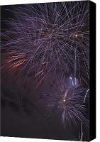 Pyrotechnics Canvas Prints - Fireworks, Crowsnest Pass, Alberta Canvas Print by Michael Interisano