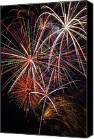 Pyrotechnics Canvas Prints - Fireworks display Canvas Print by Garry Gay