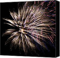 Independence Day Canvas Prints - Fireworks Fun 11 Canvas Print by Marilyn Hunt