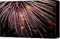 Independence Day Canvas Prints - Fireworks Fun 13 Canvas Print by Marilyn Hunt