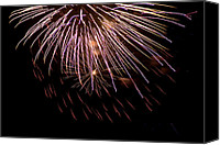 Independence Day Canvas Prints - Fireworks Fun 14 Canvas Print by Marilyn Hunt