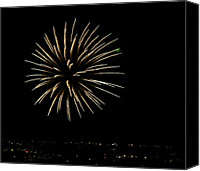 Independence Day Canvas Prints - Fireworks Fun 5 Canvas Print by Marilyn Hunt