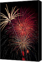 Works Canvas Prints - Fireworks Canvas Print by Garry Gay