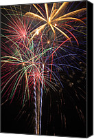 Pyrotechnics Canvas Prints - Fireworks in celebration  Canvas Print by Garry Gay
