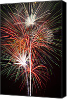 Pyrotechnics Canvas Prints - Fireworks light up the night Canvas Print by Garry Gay