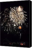 July Canvas Prints - Fireworks Canvas Print by Michelle Calkins