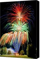 4th July Canvas Prints - Fireworks no.1 Canvas Print by Niels Nielsen
