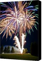 4th July Canvas Prints - Fireworks no.4 Canvas Print by Niels Nielsen