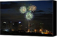 Independence Day Canvas Prints - Fireworks of Tampa Canvas Print by David Lee Thompson