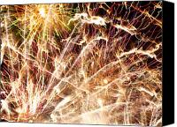 Unique Art. Photo Canvas Prints - Fireworks Canvas Print by Oliver Johnston