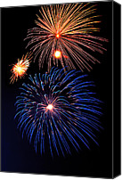 4th July Canvas Prints - Fireworks Wixom 1 Canvas Print by Michael Peychich